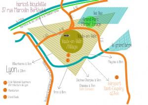 plan d'accès haricot bicyclette